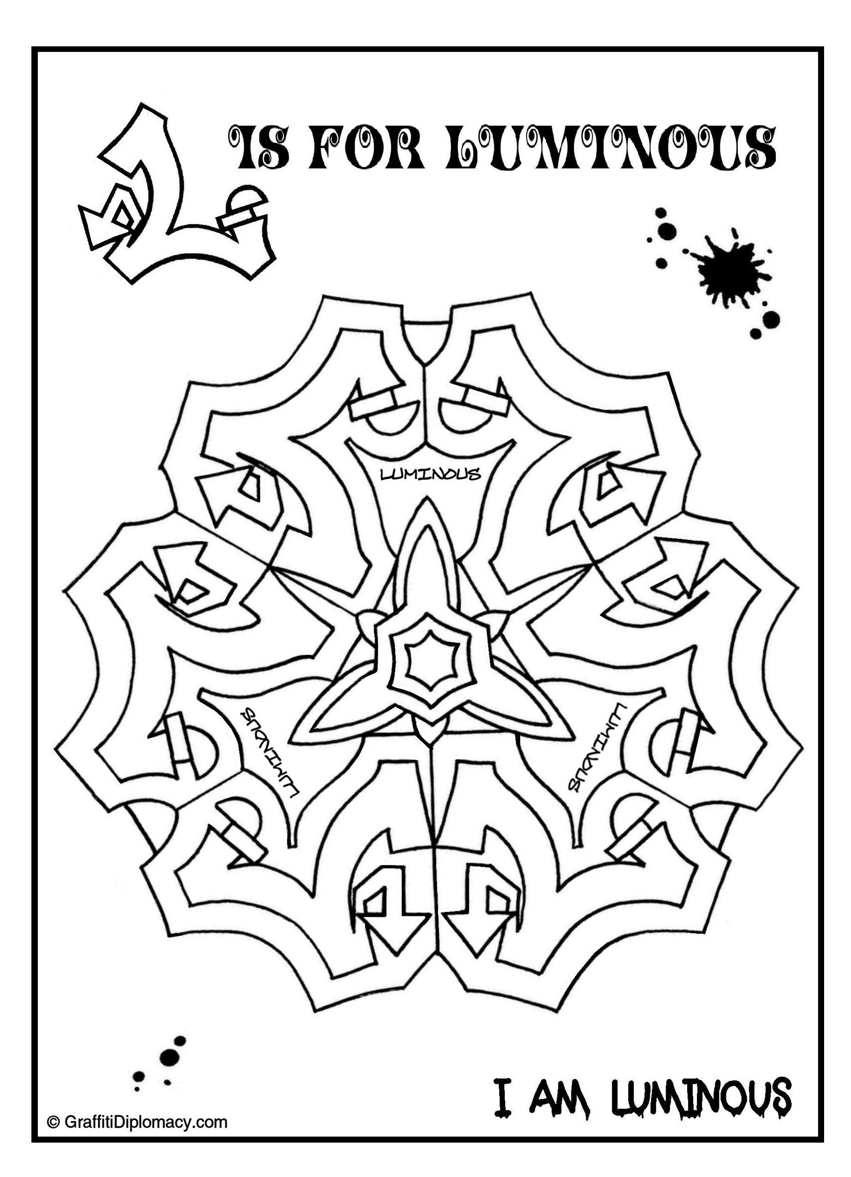 71 multicultural graffiti free coloring pages 8
