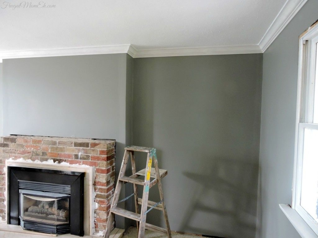 Love This Paint Color Even Looks Good With Brick Behr Fashion Gray