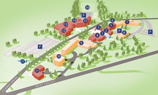Clarke University Campus Campus Pictures Pinterest Campus Map