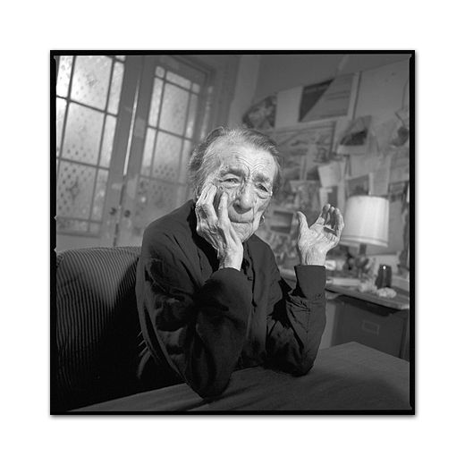 Mary Ellen Mark photographs Louis Bourgeois.    M.E.Mark is insanely inspirational.  Such an amazing talent.