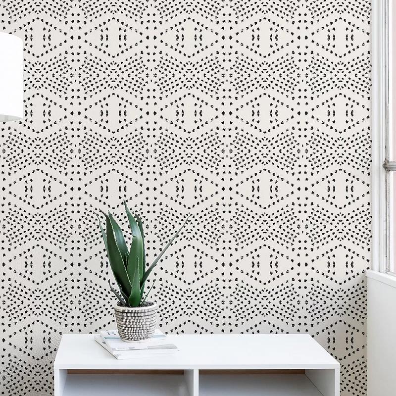 Modern Rustic Interiors Holli Zollinger Tile Matte Peel And Stick Wallpaper Panel Reviews Way Wallpaper Accent Wall Peel And Stick Wallpaper Wallpaper Roll