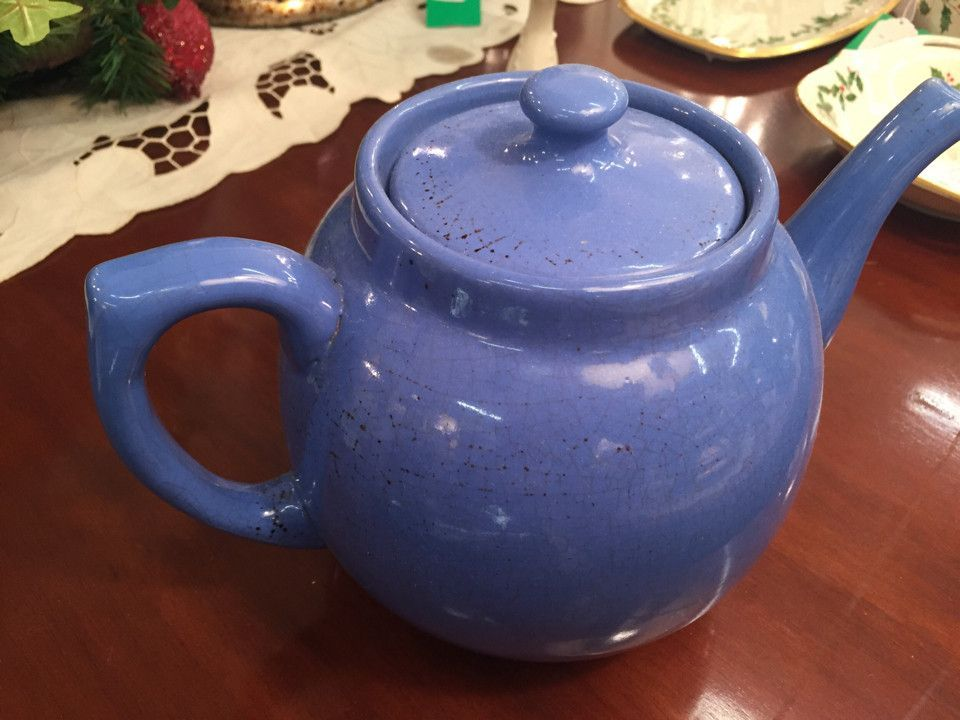 Ceramic Blue Tea Pot