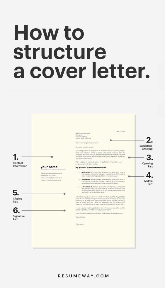 how to write a great cover letter  resumeway  cover