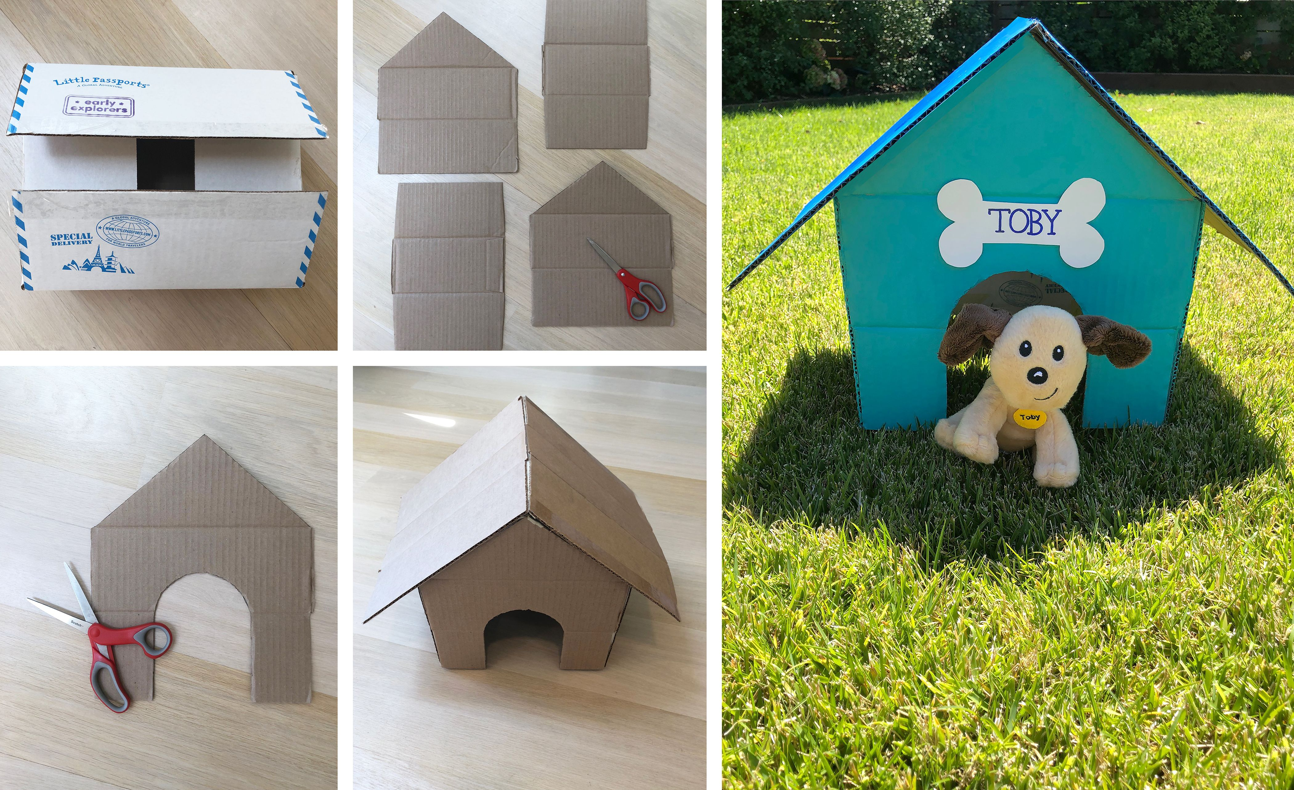 Upcycle Diy Toby S Dog House Little Passports Diy Upcycle Dog House Diy Diy Dog Stuff [ 2563 x 4200 Pixel ]