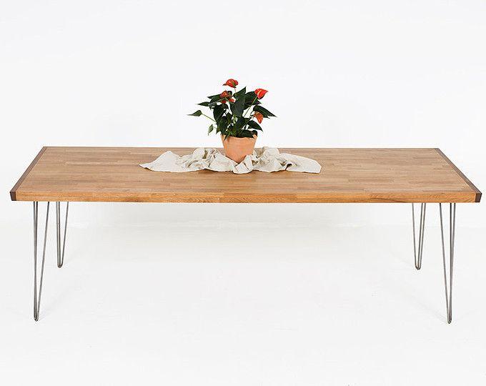 Longue salle à manger contemporain Table, grande Table à manger