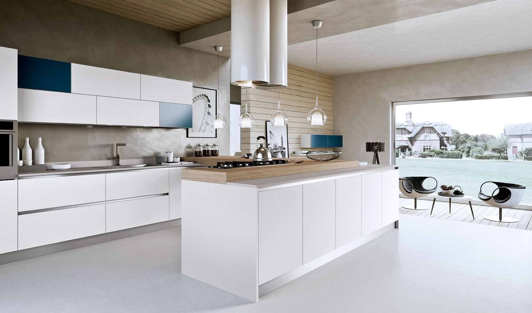 Whitebluekitcheng kitchens that pop pinterest