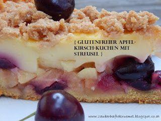 Zauberhafte Krumel Rezepte Apfel Kirsch Kuchen Mit Streusel Glutenfrei Kuchen Ohne Backen Glutenfreier Kuchen Lebensmittel Essen