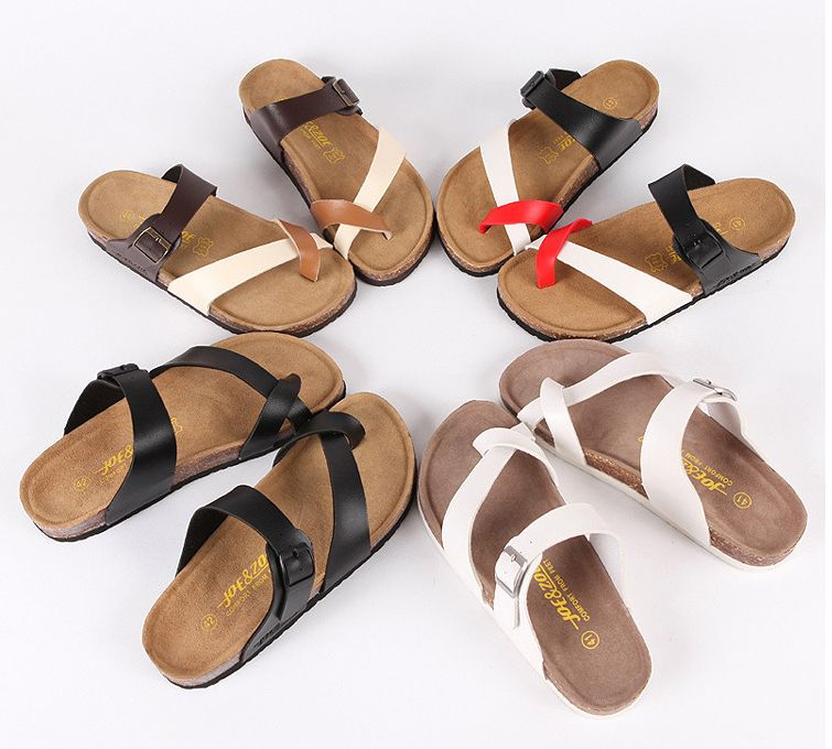 0df73fc06cf5 Aliexpress.com   Buy SIZE 36 43 Models Couple Slippers Summer Slippers  Sandals Birkenstock Shoes Cork Sandals Flip Flops from Reliable sandals  free ...