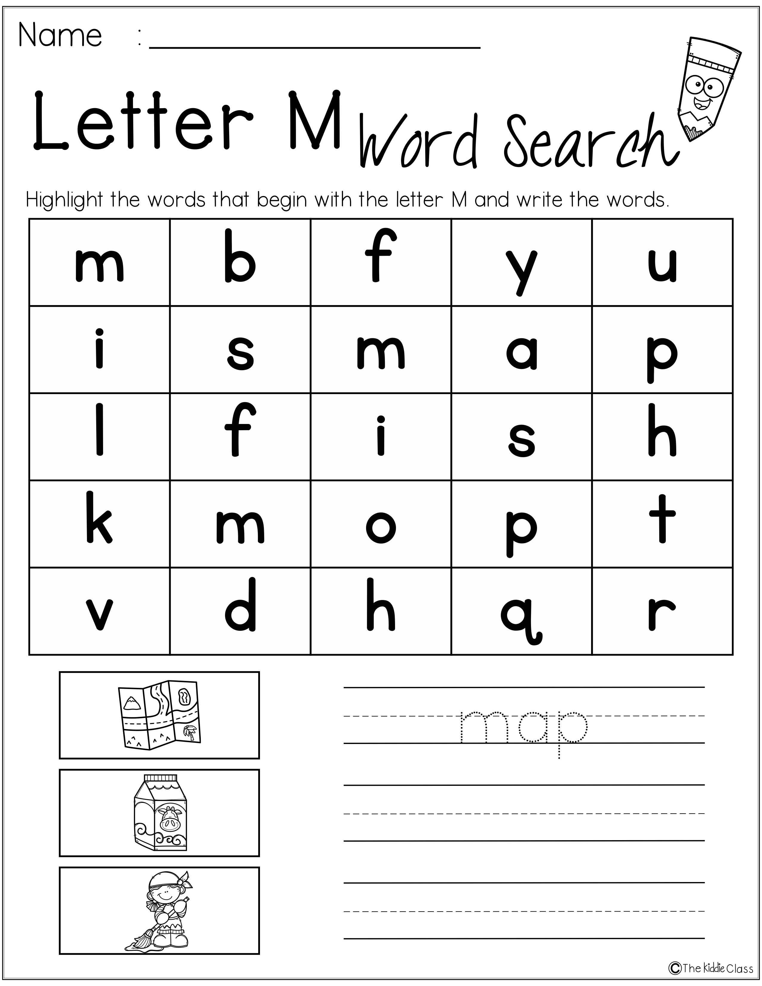 Letter Of The Week M Is Perfect For The Beginning Of The Year In Preschool Or Kindergarten Students Will Deve Letter M Worksheets Letter Of The Week Lettering