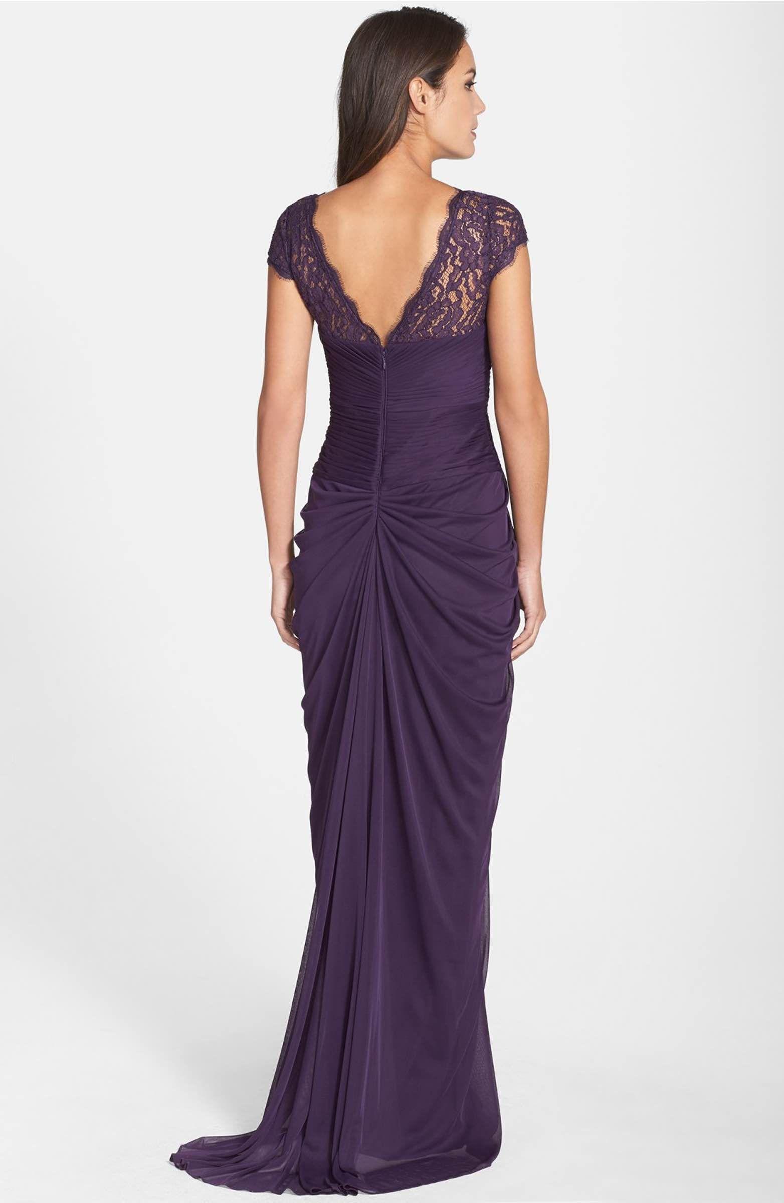 Main Image - Adrianna Papell Lace Yoke Drape Gown   Casamento ...