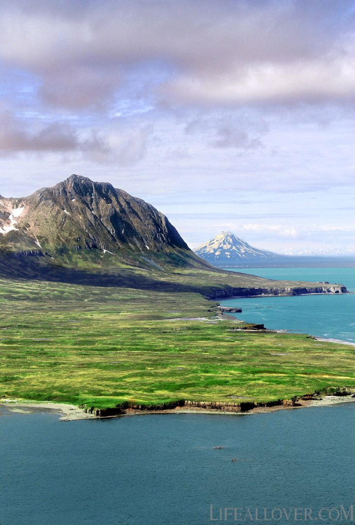 Cape Douglas, Katmai Nat.Park- in the background with Mt. Augustine in #Alaska by lifeallover.com