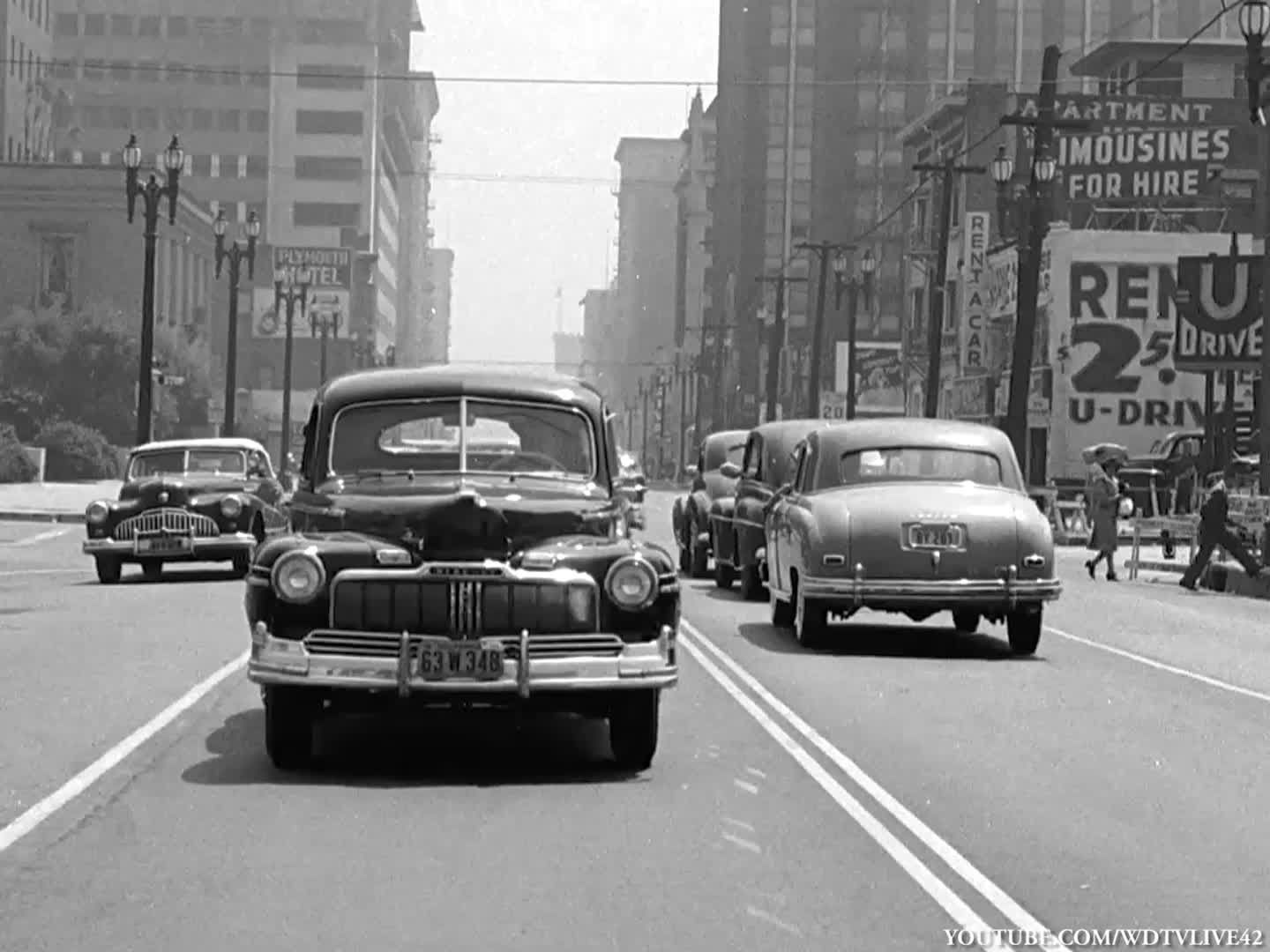 1948) Car dashcam ride through Los Angeles. Tons of vintage and ...