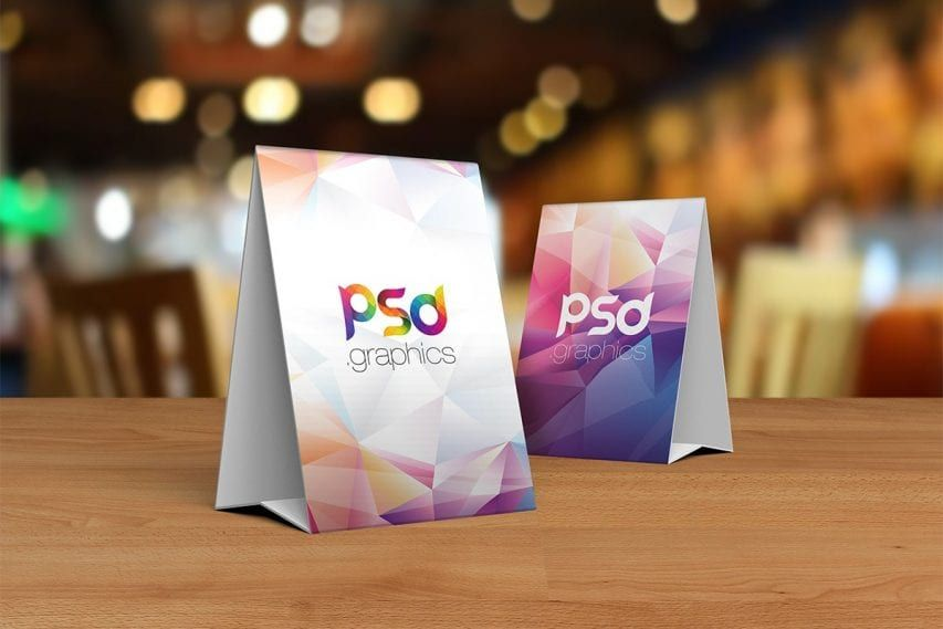 Free Table Tent Card Mockup Psd Card Mockup Tent Cards Table Tent