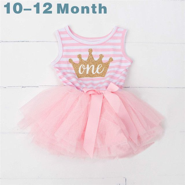 e650bb9ed Summer Baby Girl 1 2 3 Year Birthday Dresses for Newborn Baby Girls  Boutique Clothing Casual Infant Princess Stripe Tutu Dress