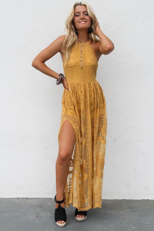 24+ Mustard maxi dress info