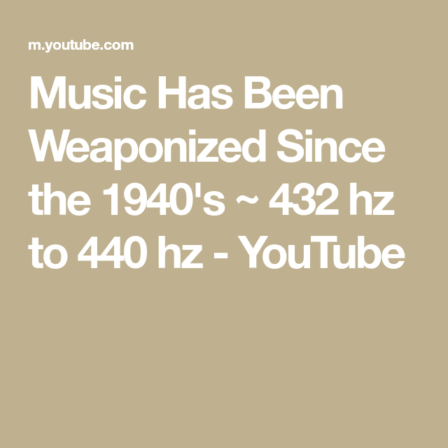 Learn These Music 440 Hz Youtube {Swypeout}