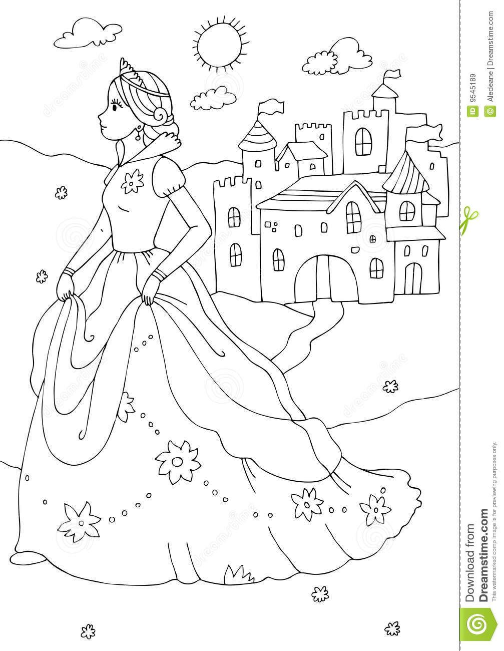 Colouring Pictures Of Castles With Princesses Fargelegging Aktiviteter