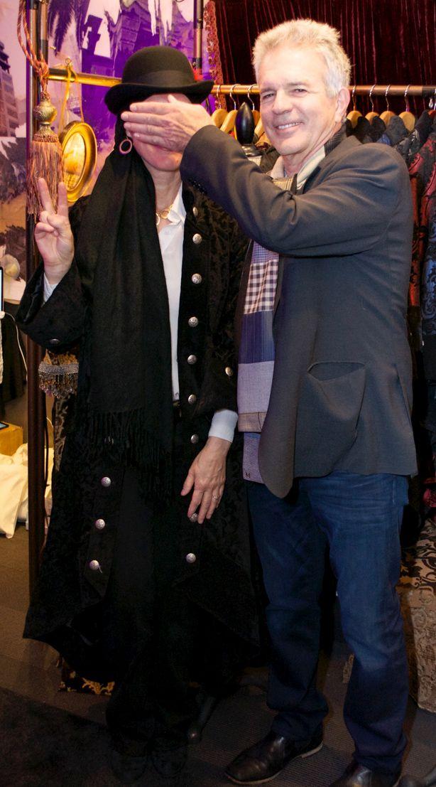 Tony Denison with Designer Samiah at the GBK Golden Globes Celebrity Gifting Lounge – Samiah Fine Clothing