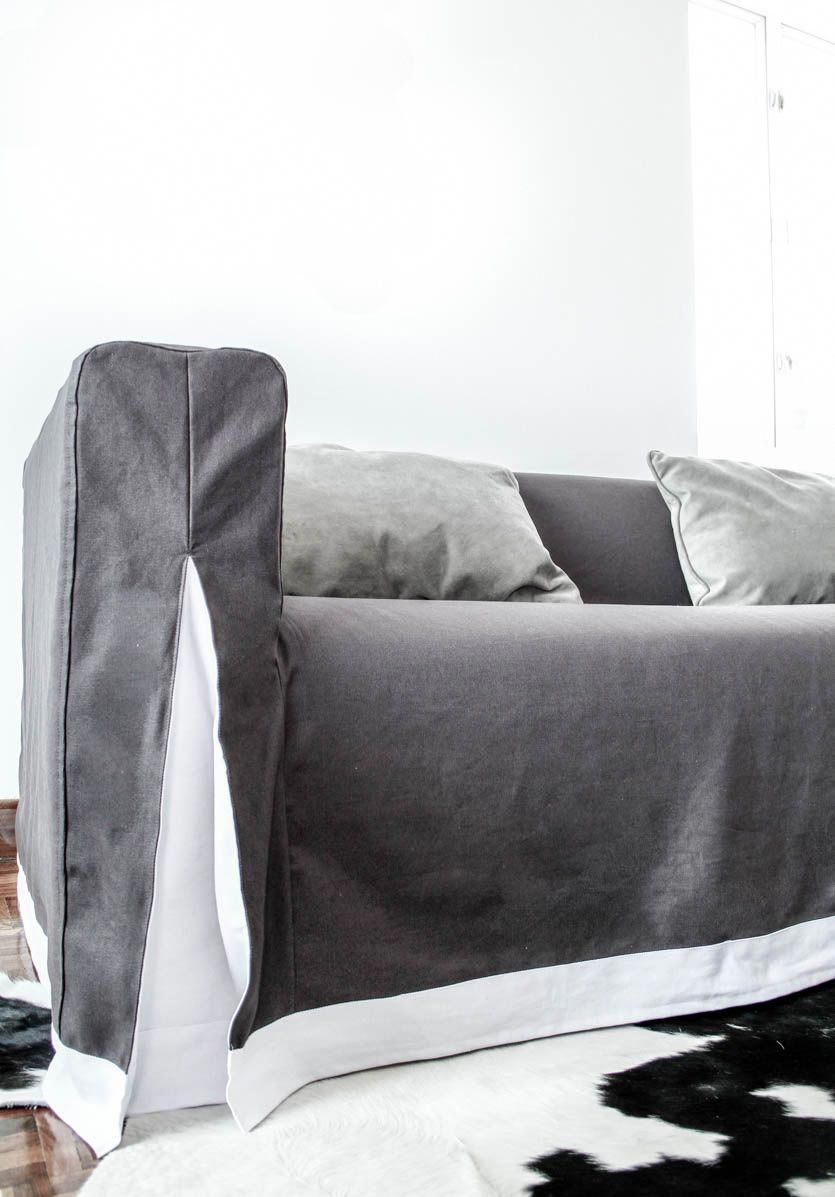 Excellent Klippan Long Skirt Grey Charcoal Gaia A Few Black Leather Bralicious Painted Fabric Chair Ideas Braliciousco