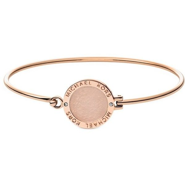 Michael Kors Bracelets Heritage Rose Gold Tone Logo Bangle 115 Liked On Polyvore Featuring Jewelry Bracelet
