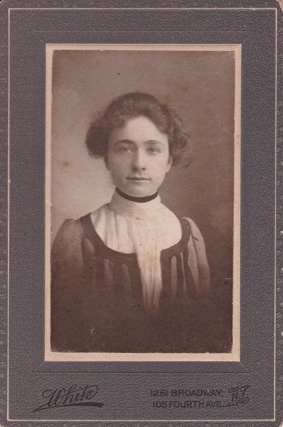 Cabinet Card Portrait, 1902, Young Woman