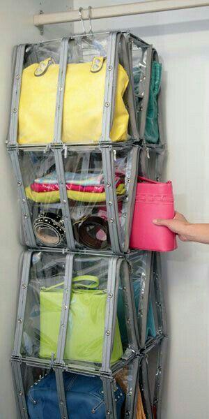 Rangement sac à main   Organiser un placard, Rangement sac à main et Rangement