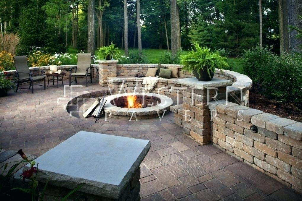 Patio Retaining Wall Ideas Sunken Patio Retaining Wall Sunken Patio Home Design Ideas And Inspiration In Pavers Backyard Backyard Fire Outdoor Fire Pit Designs