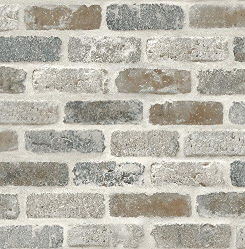 Nextwall Washed Faux Brick Peel And Stick Wallpaper Next Https Www Amazon Com Dp B07b7qgyy2 Ref Cm Sw R Faux Brick Wallpaper Faux Brick Walls Faux Brick
