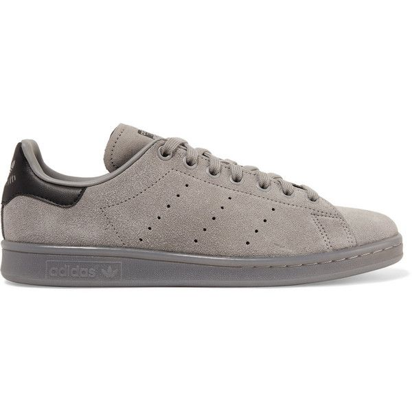 f17dfed4963 Adidas Originals Stan Smith leather-trimmed suede sneakers ( 85) ❤ liked on Polyvore  featuring shoes