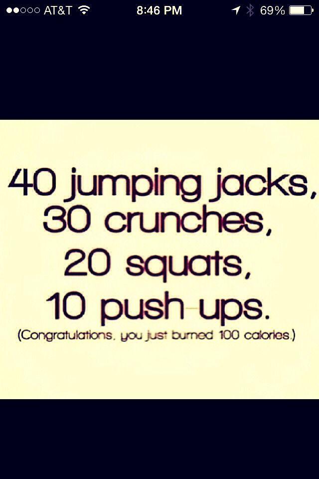 Burn 100 Calories Fast! | Burn 100 calories, 100 calories ...