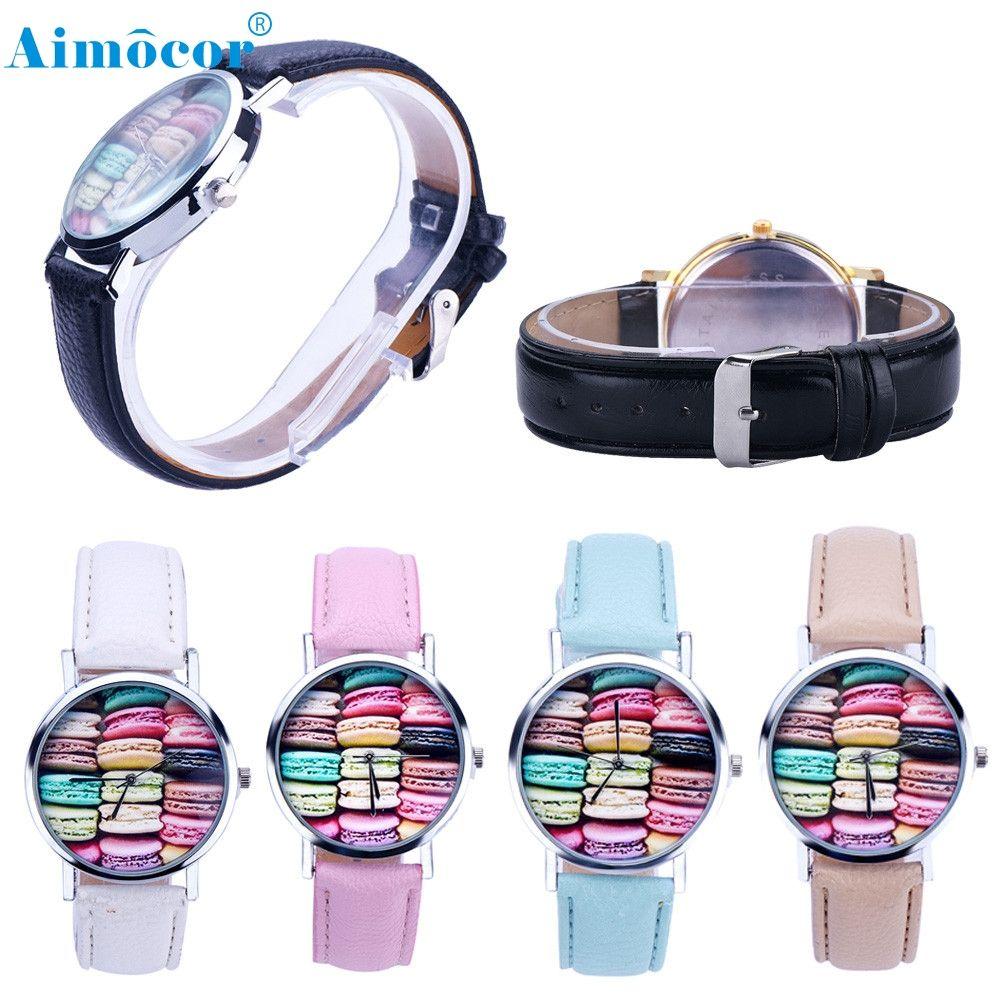 >> Click to Buy << Quartz Watch Wristwatch Fashion Macaron Pattern Women Girl Fashion Sport Leather Bracelet Z505 #Affiliate