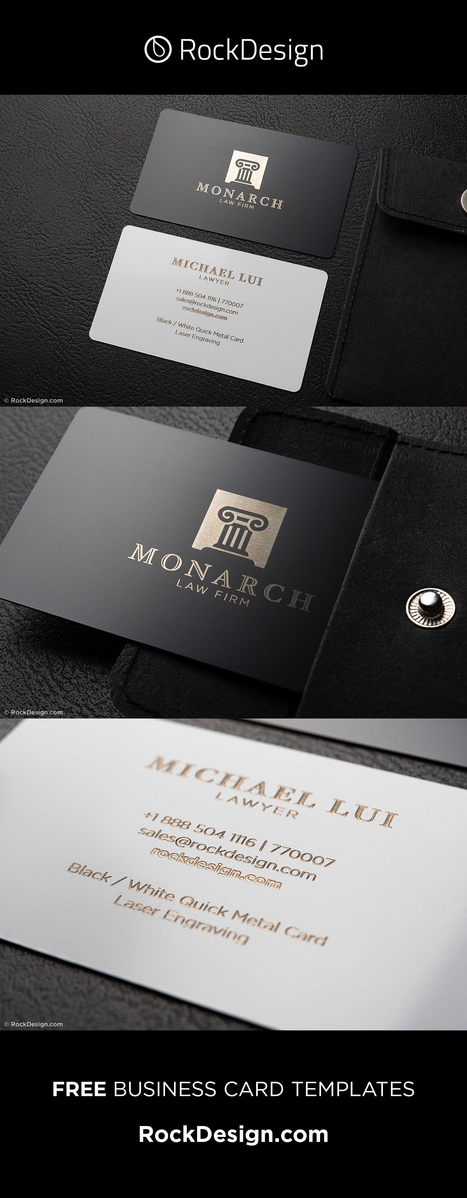 Elegant And Stylish Black And White Lawyer Business Card Template Monarch Lawyer Business Card Business Card Template Business Card Design Inspiration