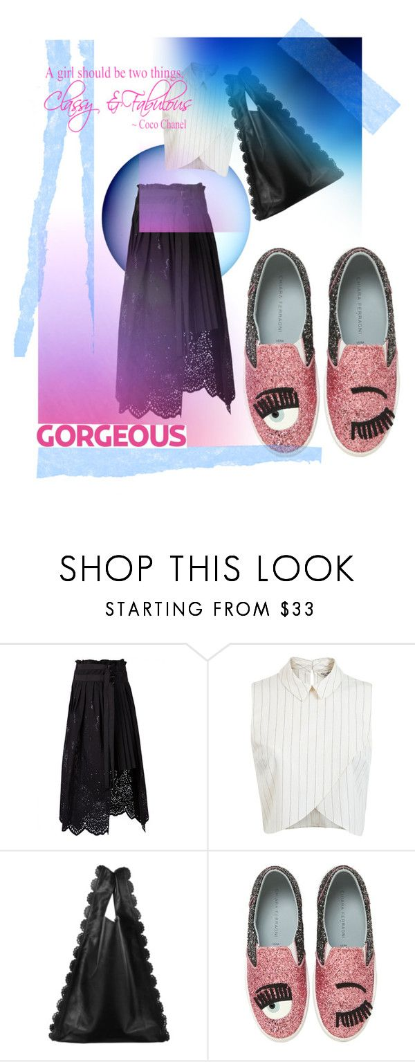 """""""Up & Down"""" by hanadi-1 ❤ liked on Polyvore featuring Sacai, Miss Selfridge, Moncler and Chiara Ferragni"""