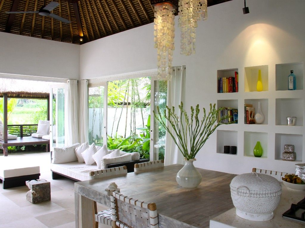 Dining Living And Terrace With Images Bali Style Home Bali