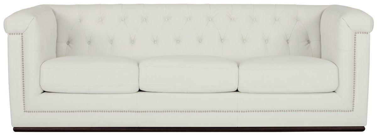 Blair White Microfiber Sofa Home Ideas