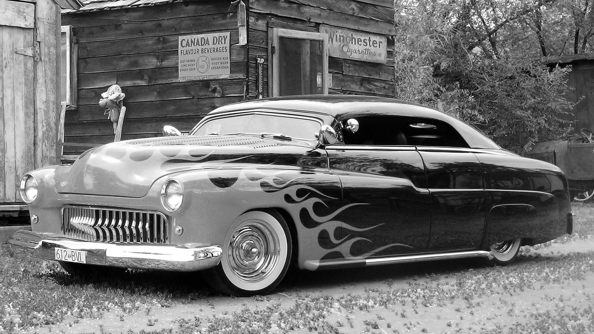 Old School Flames Hot Rod | Classic Car Full HD Wallpaper and ...