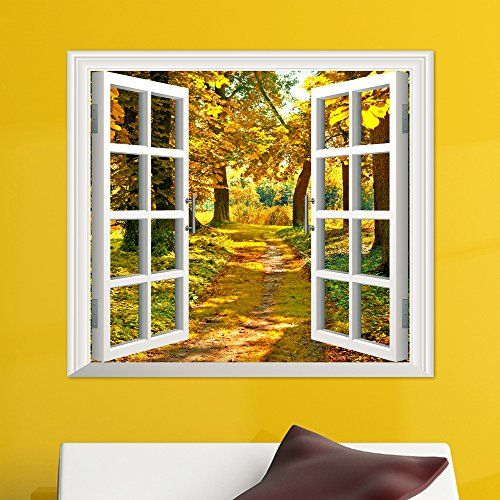 3D stereo window decoration stickers stickers fake waterproof wall ...
