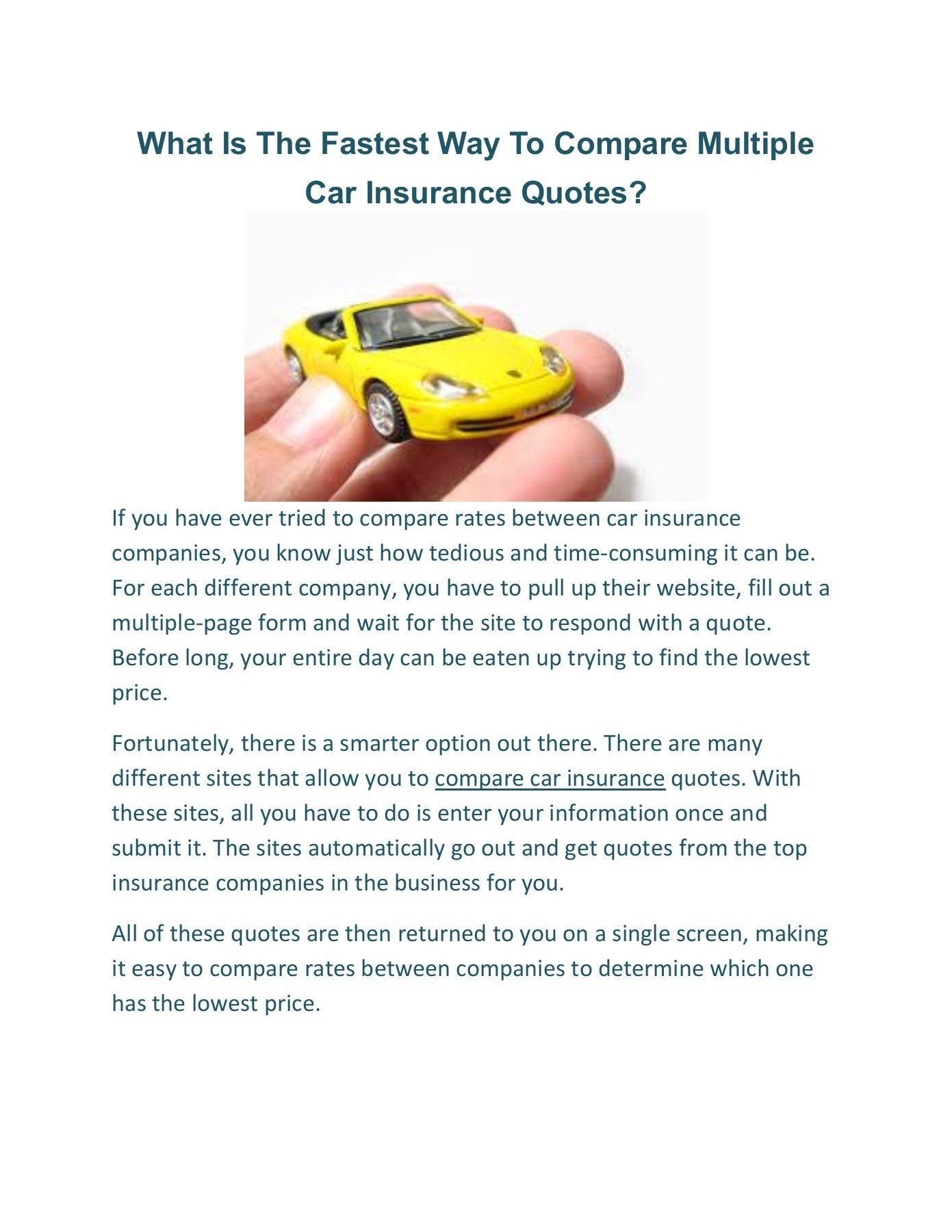 55 Unique Multiple Car Insurance Quotes in 2020 Auto