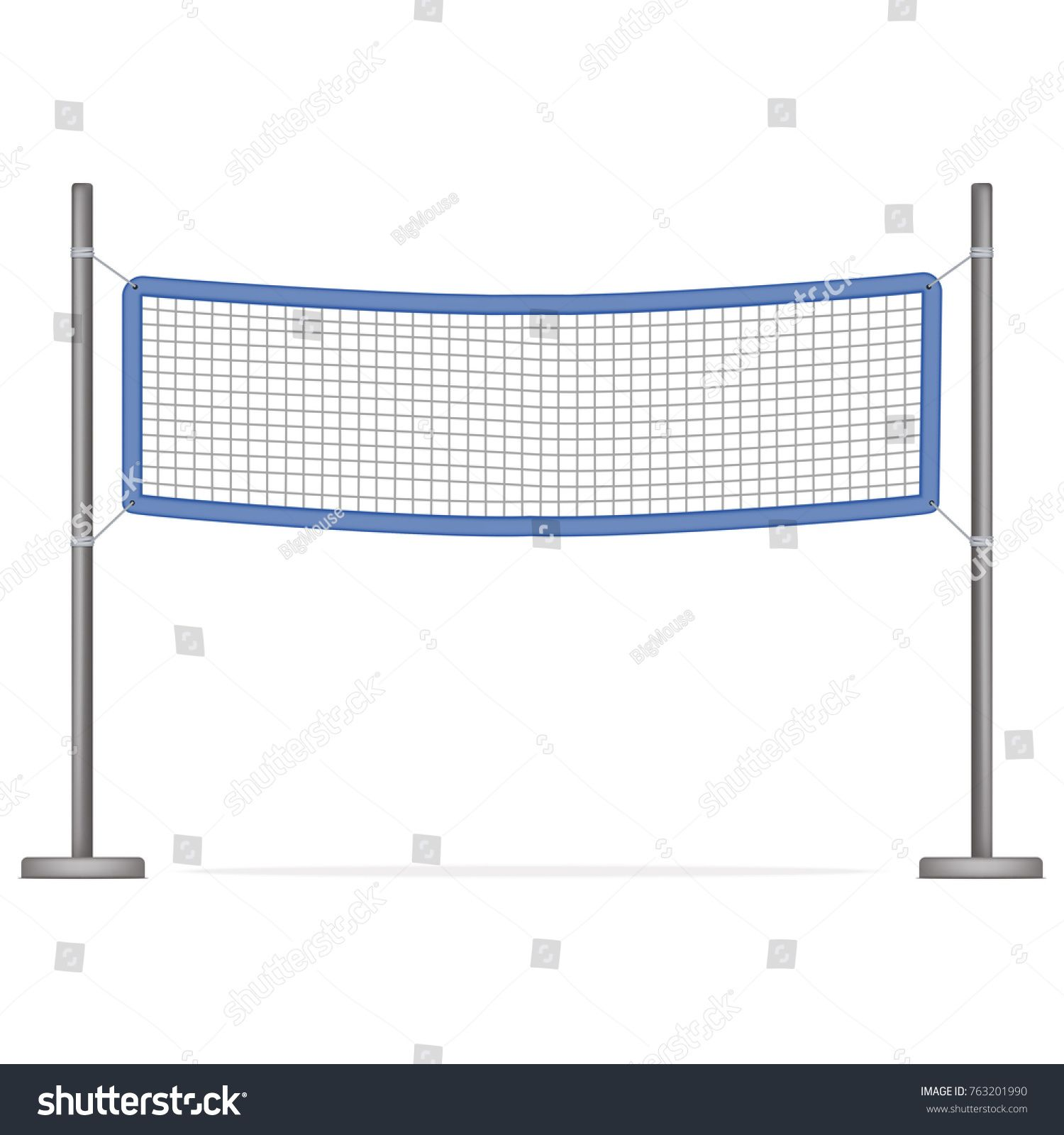 Realistic Detailed 3d Volleyball Net For Sport Game Activity Leisure Isolated On White Background Vector Illustration Volleyball Net Sports Games Volleyball