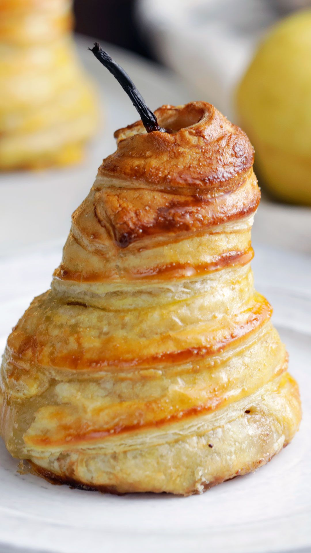 Stuffed Pears in Puff Pastry