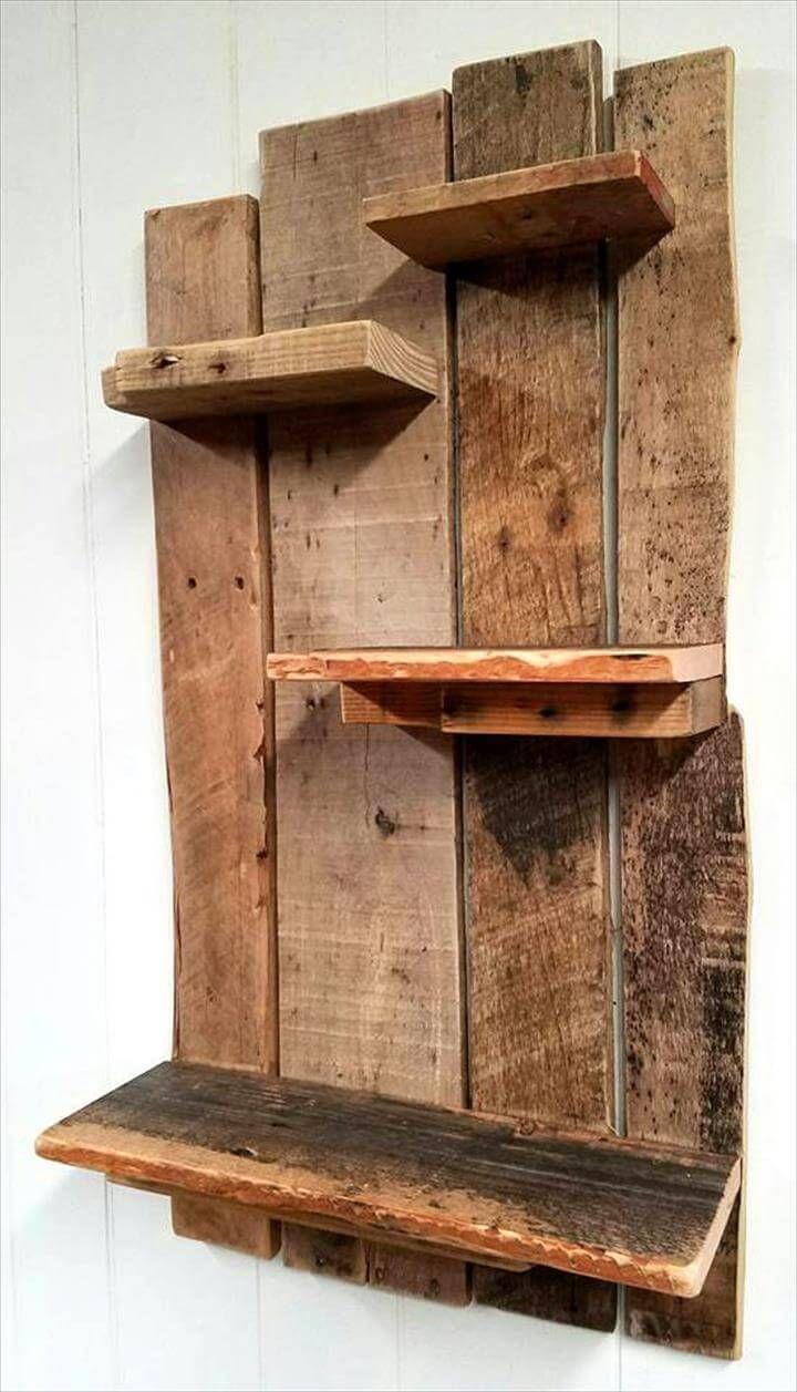 Küchenideen ahornschränke reshaped pallet shelf design  pallet wood stuff  pinterest