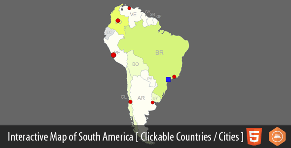 Interactive Map of South America | WordPress | Interactive ...