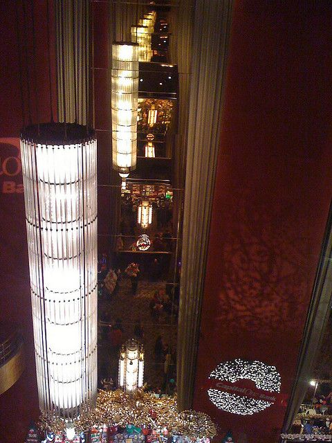 Radio City chandelier reflections