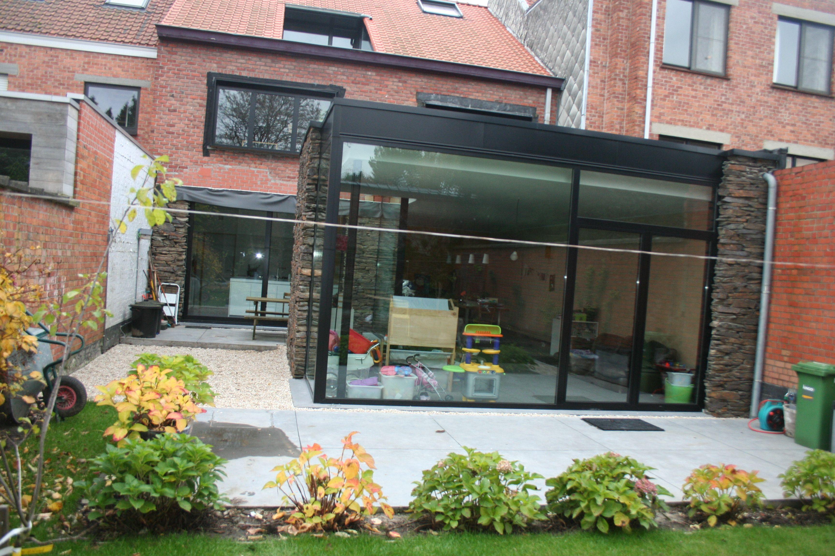 Uitbreiding leefruimte natuursteen en ramen architect own projects - Uitbreiding veranda ...