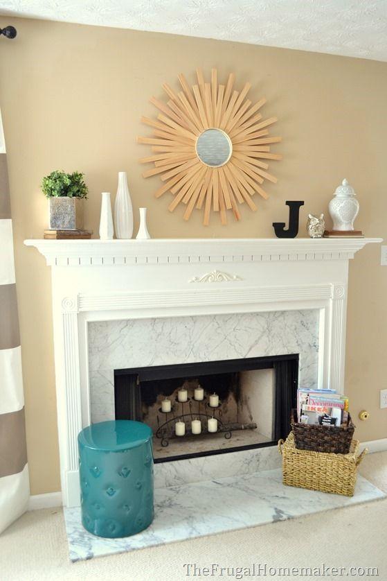 Modern styled all season decorated mantel decor ideas in - Modern mantel decor ideas ...