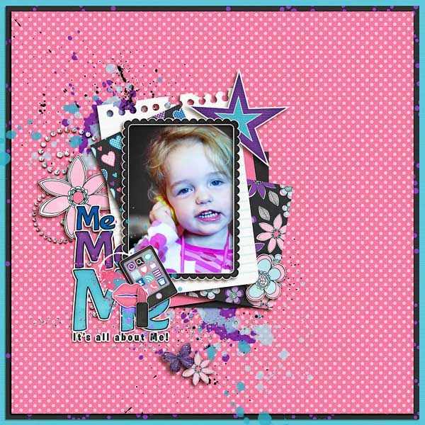 """ALL ABOUT ME"" from the gallery at Real Life Scrapped Made with Teenage Drama Queen by Jennifer Labre at Scrapmatters http://shop.scrapmatters.com/jennifer-labre-designs/"