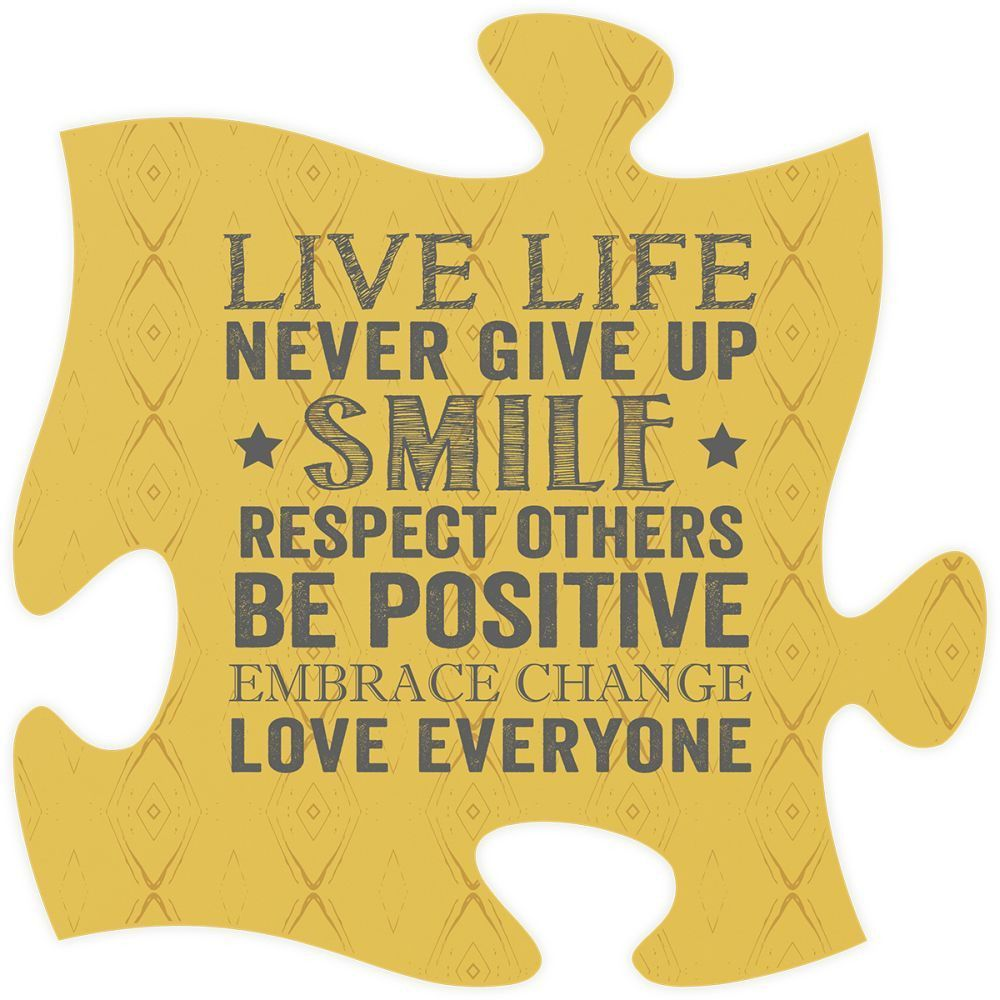 Live Life Quote Puzzle Piece Bulletin Board Ideas