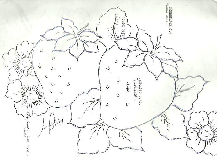 Dibujos de flores y frutas para pintar en tela buscar - Pinturas para pintar tela ...