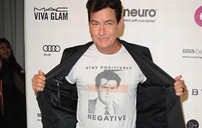 Charlie Sheen Claims to Be HIV Negative