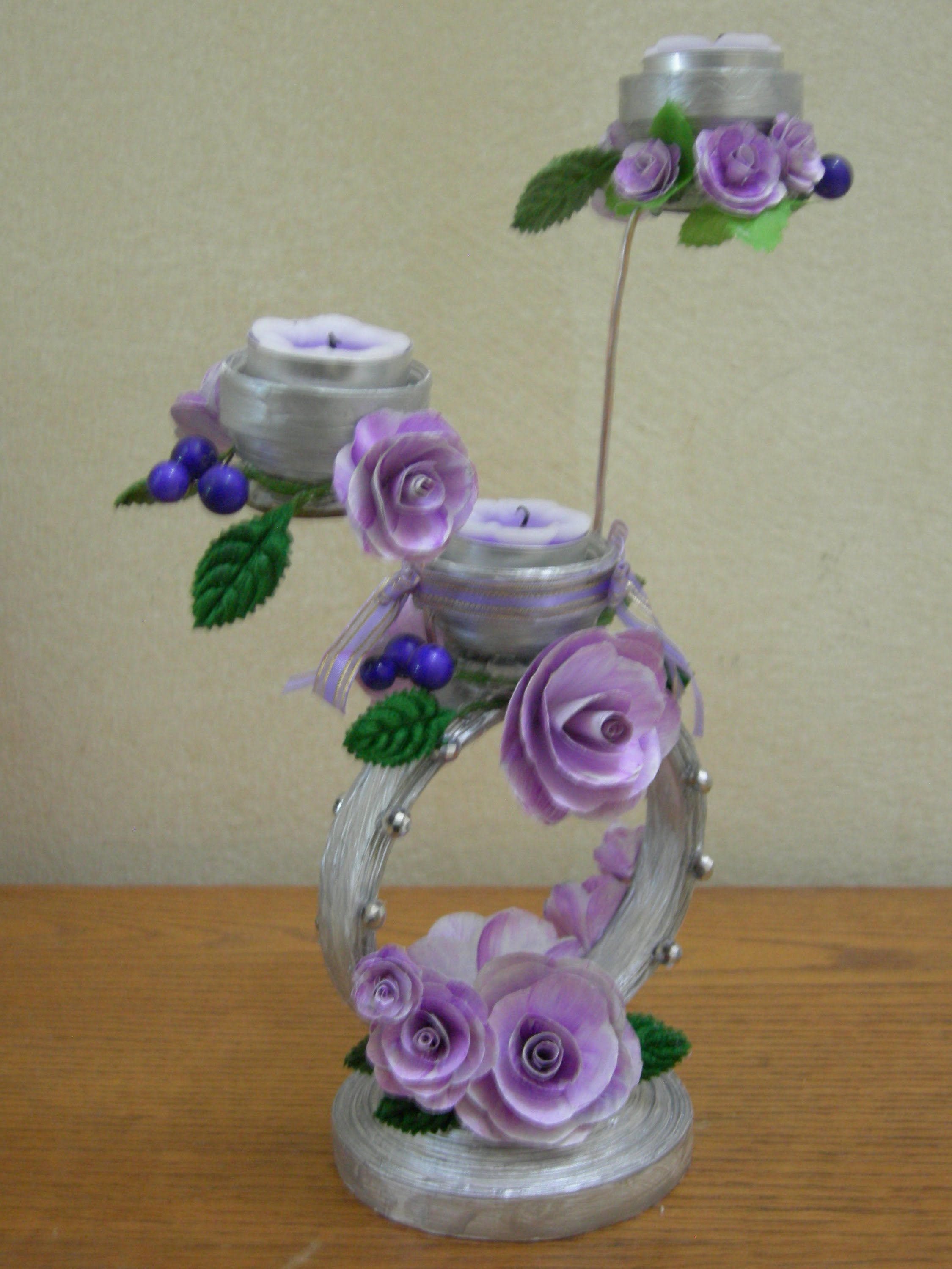 Blumen Aus Plastik Best Out Of Waste Paper Decorative Candle Stand
